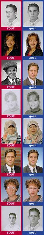 eisen pasfoto voor paspoort